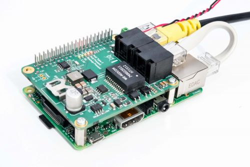 PoE module for Raspberry Pi B+, Pi2 and Pi3